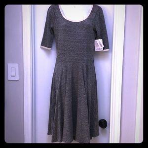 LuLaRoe Nicole gray dress. Size M